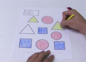 Coloring Triangles with Activity Trainer