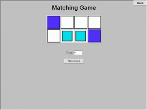 matching games for children with autism on DT Trainer