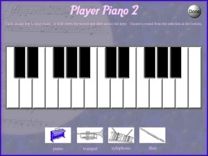 player piano activity for autism education