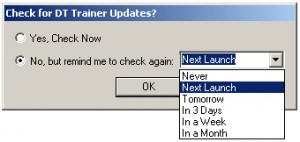 Check for Updates - DT Trainer - Autistic Software