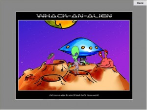 whack an alien game for children with autism