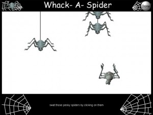 whack a spider games for children with learning disabilities